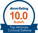 Avvo Rating 10 Badge - Robert P Jarvis